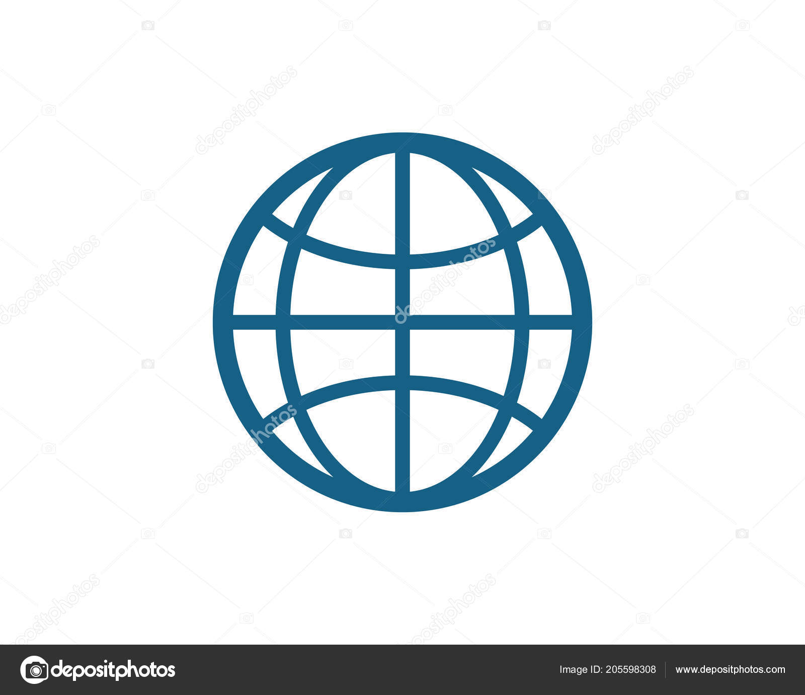 Wire World Logo Template Vector Icon Illustration — Stock Vector ...