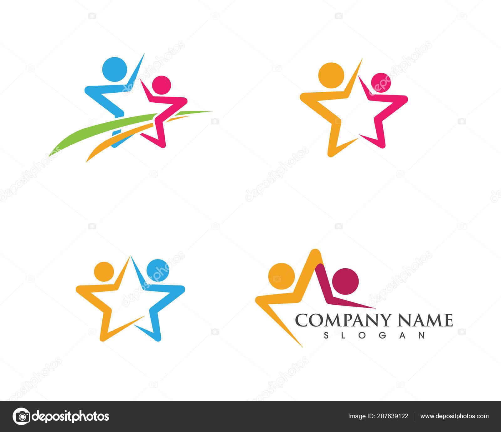 star community network social icon design template ストック