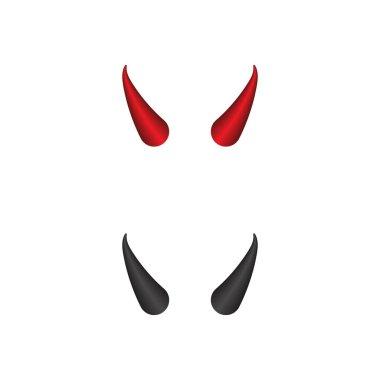 Devil horn Vector icon design illustration Template icon