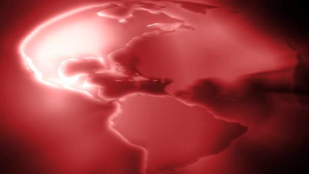 země světa rotace červený
