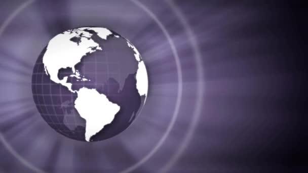 Erde Globus Welt lila