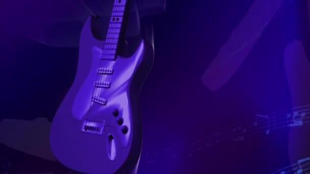 Elektrická rocková hudba kytara