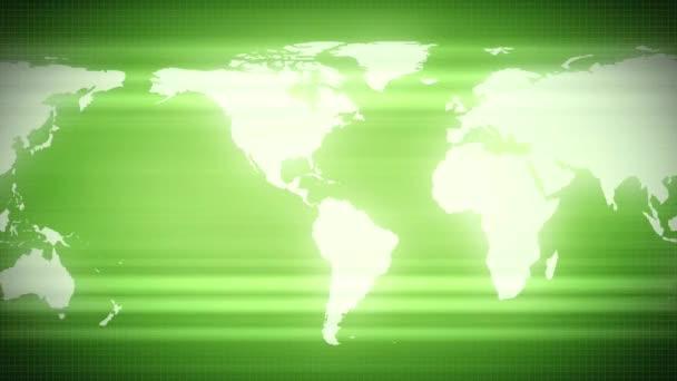 Zelený svět mapa země kontinenty