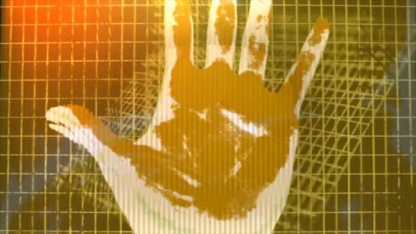human hand fingerprint people scan