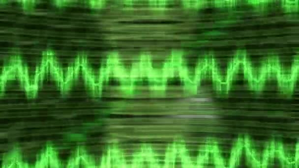 impulsi di vibrazione di oscillazioni grafico