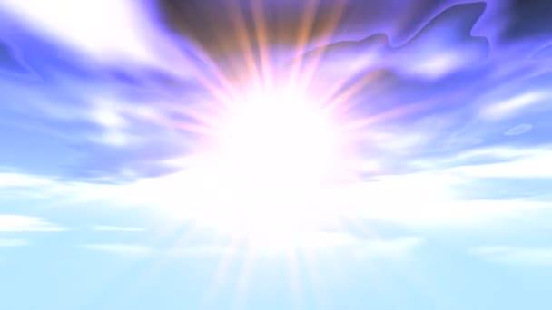 Himmel Strahlen Zeitraffer Wolken Sonne
