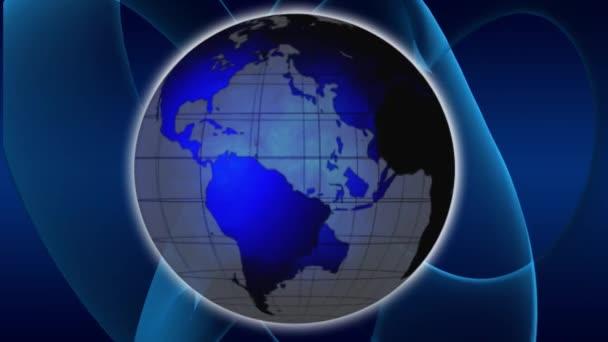 rotace země světa modrý glóbus