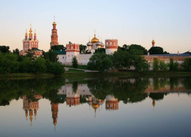 Novodevichy monastery in the evening.