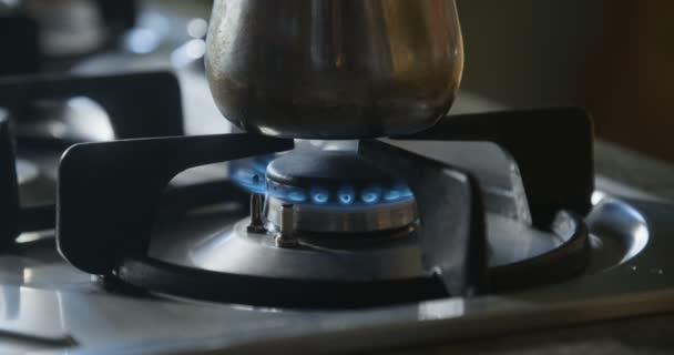 Plynový sporák vaření, zblízka
