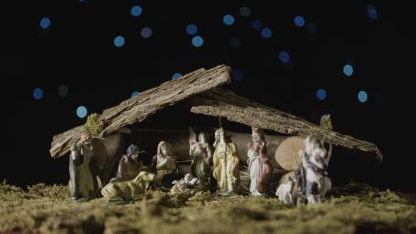 Vánoční osvětlení a betlém set