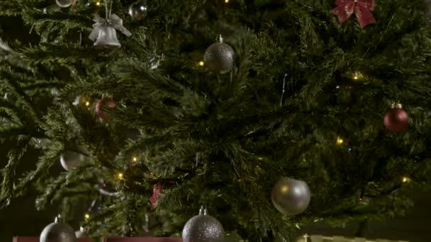 ozdobený stromeček s dárky