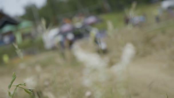 Cyklista řízení závod horských kol