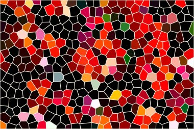 Geometric pattern of dark colors as a mosaic of large tiles of a