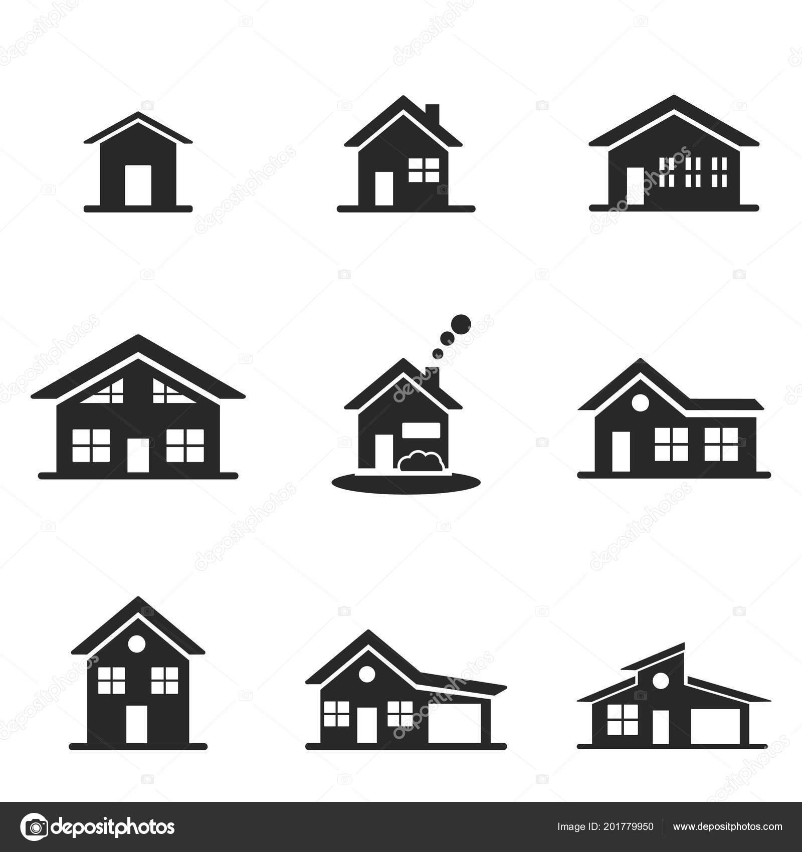 Maison jeu dicônes ligne design dicône de style interface utilisateur illustration des icônes de la maison ensemble de pictogramme isolé sur blanc