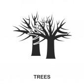 Baumsymbol. Linie Stil-Icon-Design. ui. Illustration des Baumsymbols. Piktogramm auf weiß isoliert. einsatzbereit in Webdesign, Apps, Software, Print.