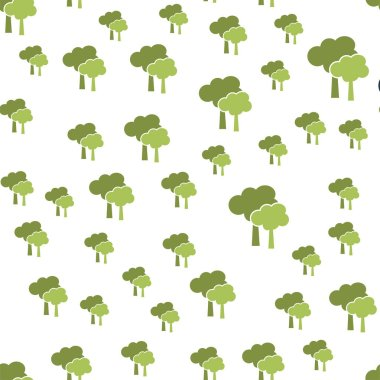 Trees seamless pattern cover. Trees icon creative design. Wallpaper, web design, textile, printing and UI and UX usage stock vector