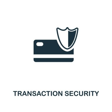 Transaction Security creative icon. Simple element illustration. Transaction Security concept symbol design from online marketing collection. For using in web design, apps, software, print.