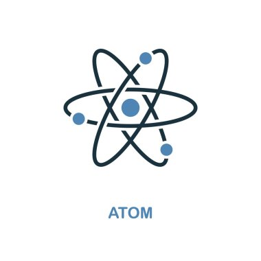 Atom icon. Simple element illustration. Atom pixel perfect icon design from education collection. Using for web design, apps, software, print.