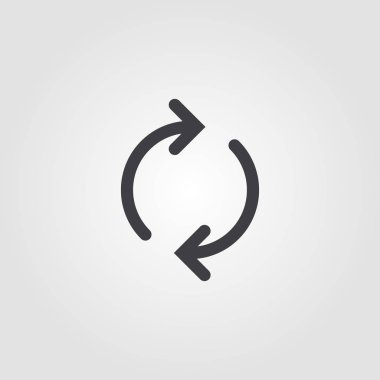 Reload creative icon. Simple element illustration. Reload concept symbol design from ui collection. Can be used for web, mobile and print. web design, apps, software, print. stock vector
