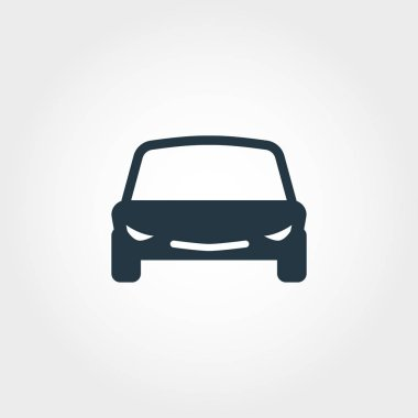 Car creative icon. Simple element illustration. Car concept symbol design from transport collection. Can be used for web, mobile and print. web design, apps, software, print. stock vector