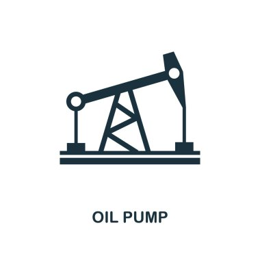 Oil Pump icon. Monochrome style design from power and energy collection. UI. Pixel perfect simple pictogram oil pump icon. Web design, apps, software, print usage. stock vector