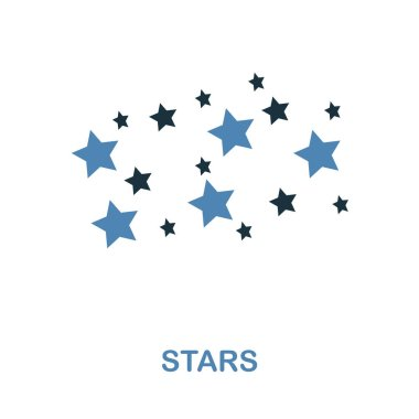 Stars icon in 2 color design. Pixel perfect simple pictogram stars icon from space collection. UI. Web design, apps, software, print usage. stock vector