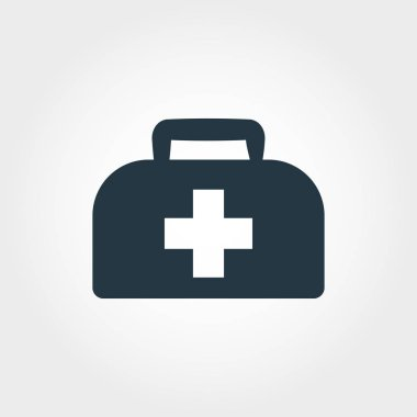 Medical Bag icon. Simple element illustration Medical Bag icon design from medicine collection. Line style icon design. Symbols for web design, apps, software, print. stock vector