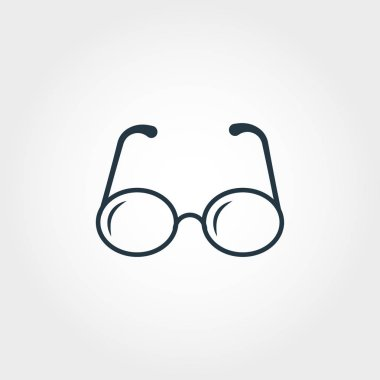 Glasses icon. Premium monochrome design from education icons collection. Creative glasses icon for web design and printing usage. stock vector