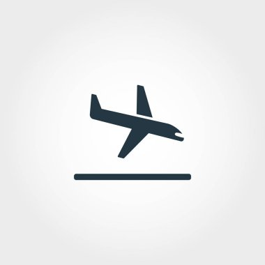 Landing creative icon. Simple element illustration. Landing concept symbol design from airport collection. Can be used for web, mobile and print. web design, apps, software, print. stock vector