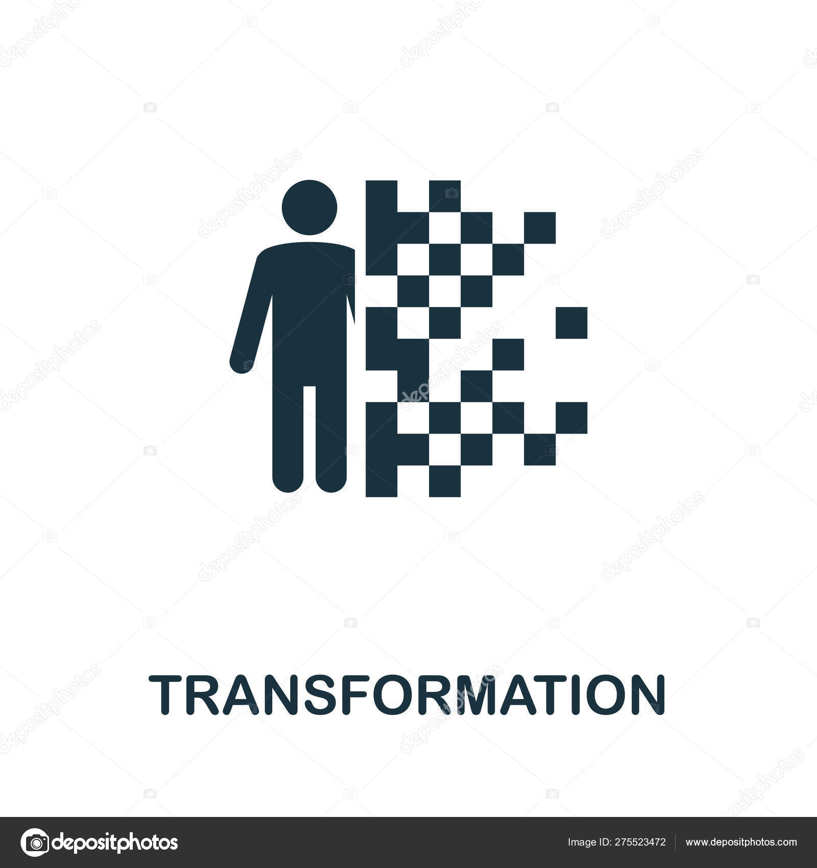 Transformation vector icon symbol  Creative sign from biotechnology