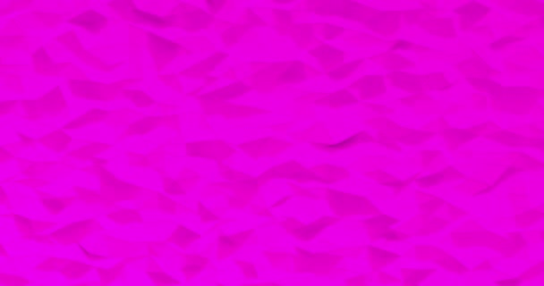 Abstract purple crystallized background. Wave motion of the polygonal surface with thin lines