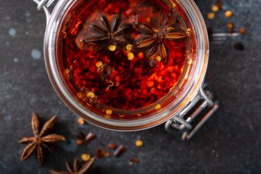 Spiced chili infused oil