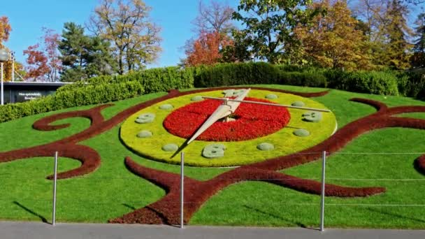 Horloge Fleurie Flower Clock Jardin Anglais Park Geneva Switzerland