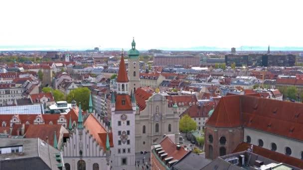 München, Deutschland - 25. Oktober 2017: Luftaufnahme des Marienplatz, München Stadt von New City hall