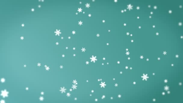 4K Abstract Motion Background  Animation with Snowflake Shapes