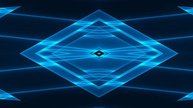 Abstract background with colorful glowing geometric shapes and lines