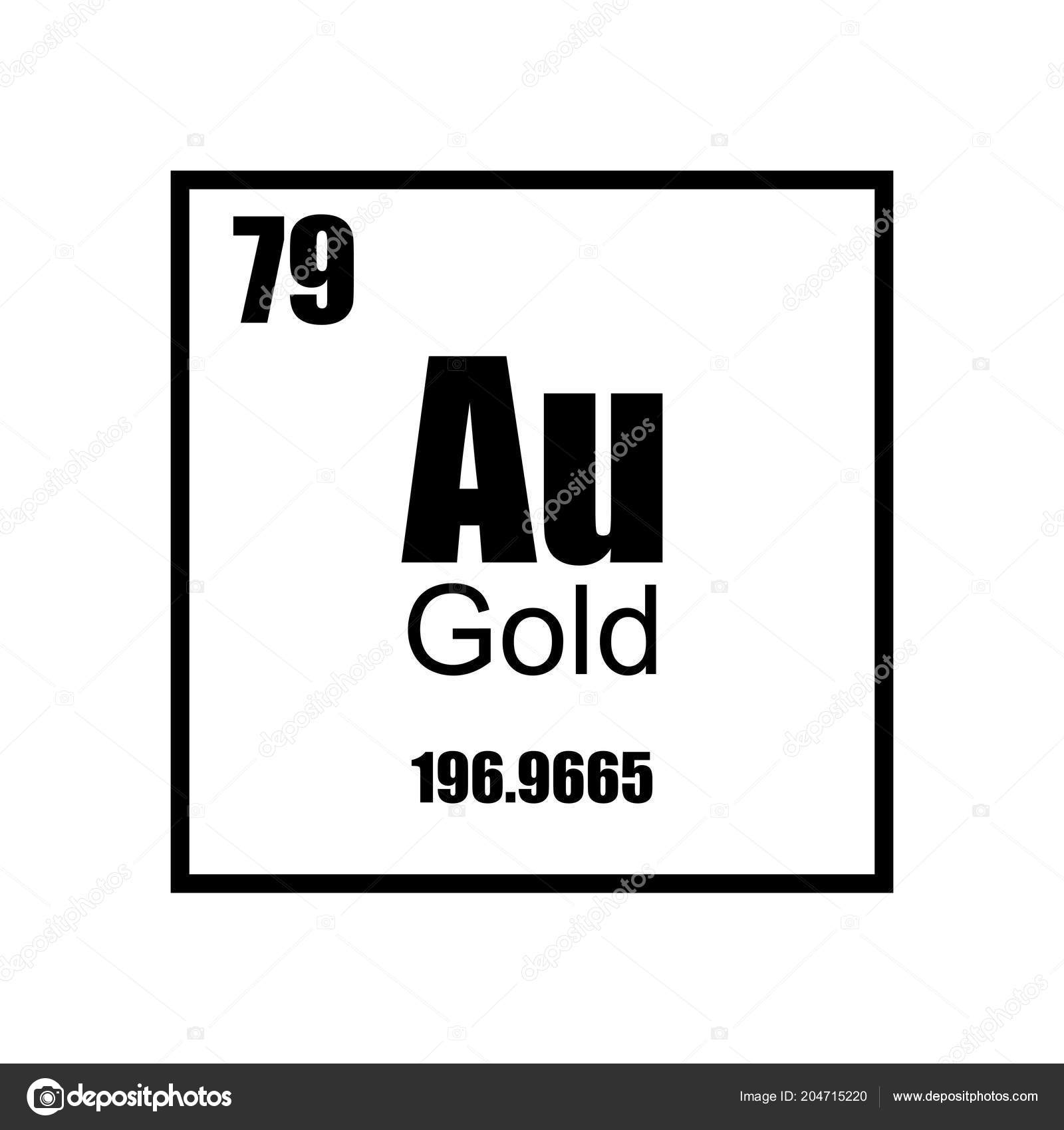 Gold element periodic table stock vector mgonchar 204715220 gold element periodic table stock vector urtaz Images
