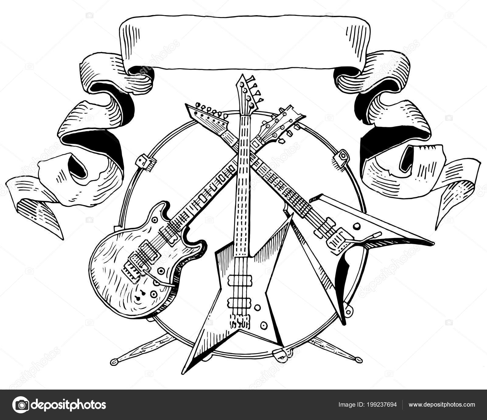 dorable bass guitar template illustration