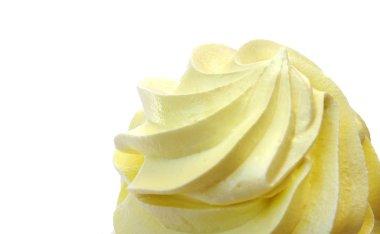 isolated top of cream yellow, whipped cream, cream cake