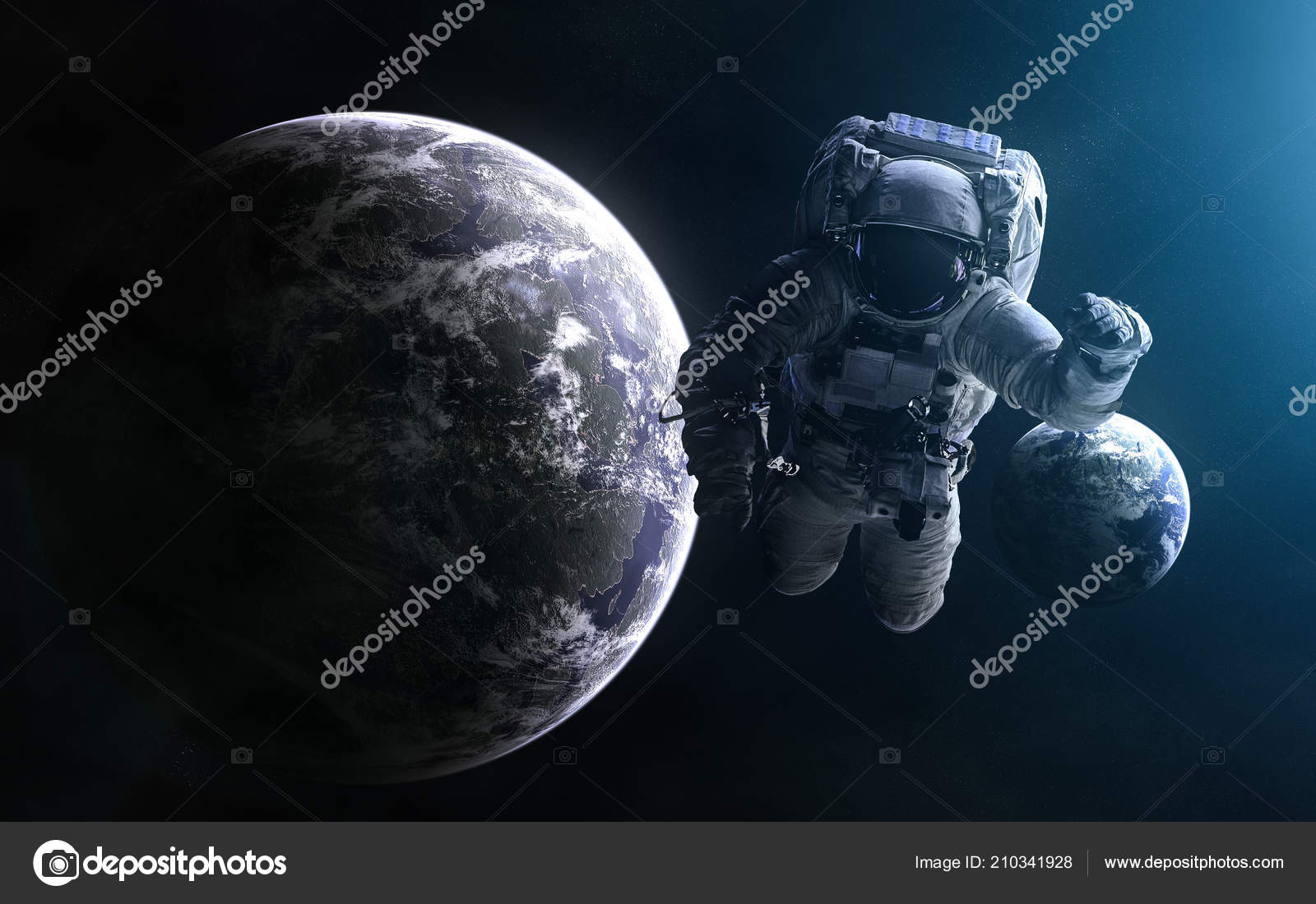 Astronaut Wallpaper 4k Astronaut On Background Of Exoplanets In