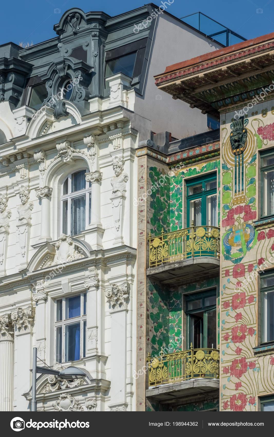 Architecture Vienna Art Nouveau Houses Wienzeile Architect Otto Wagner —  Stock Photo