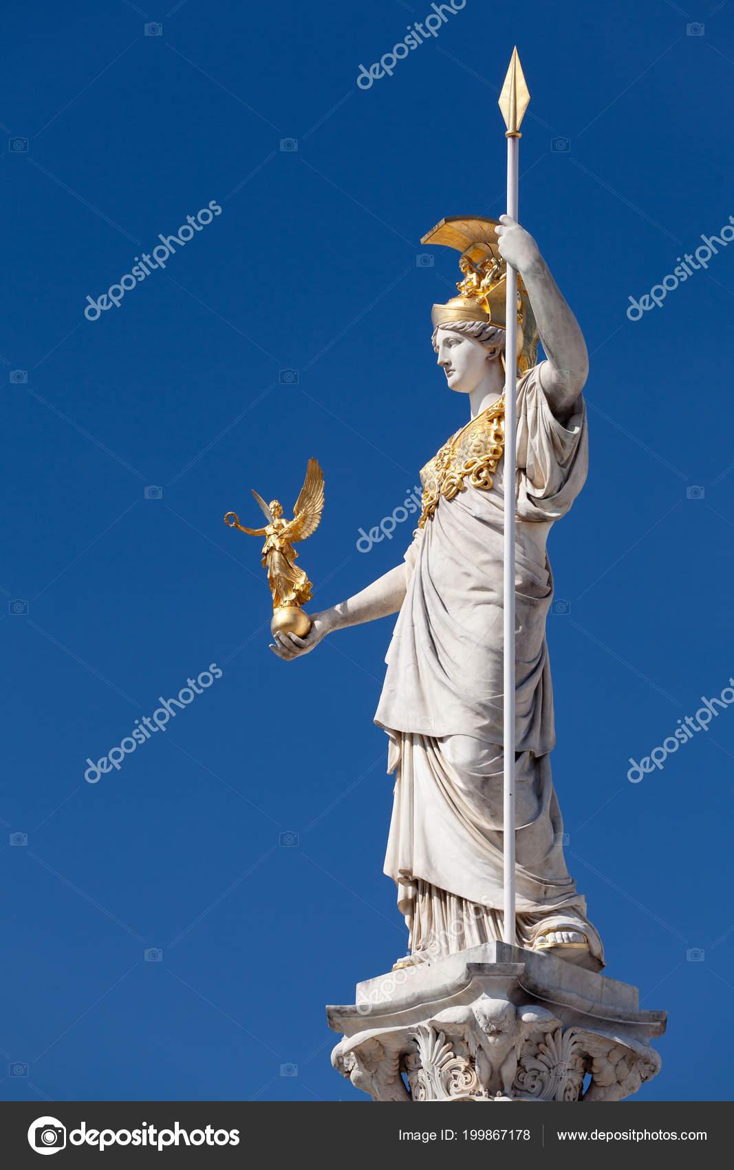 Athena Goddess Greek Mythology Symbol Law Justice Stock Photo