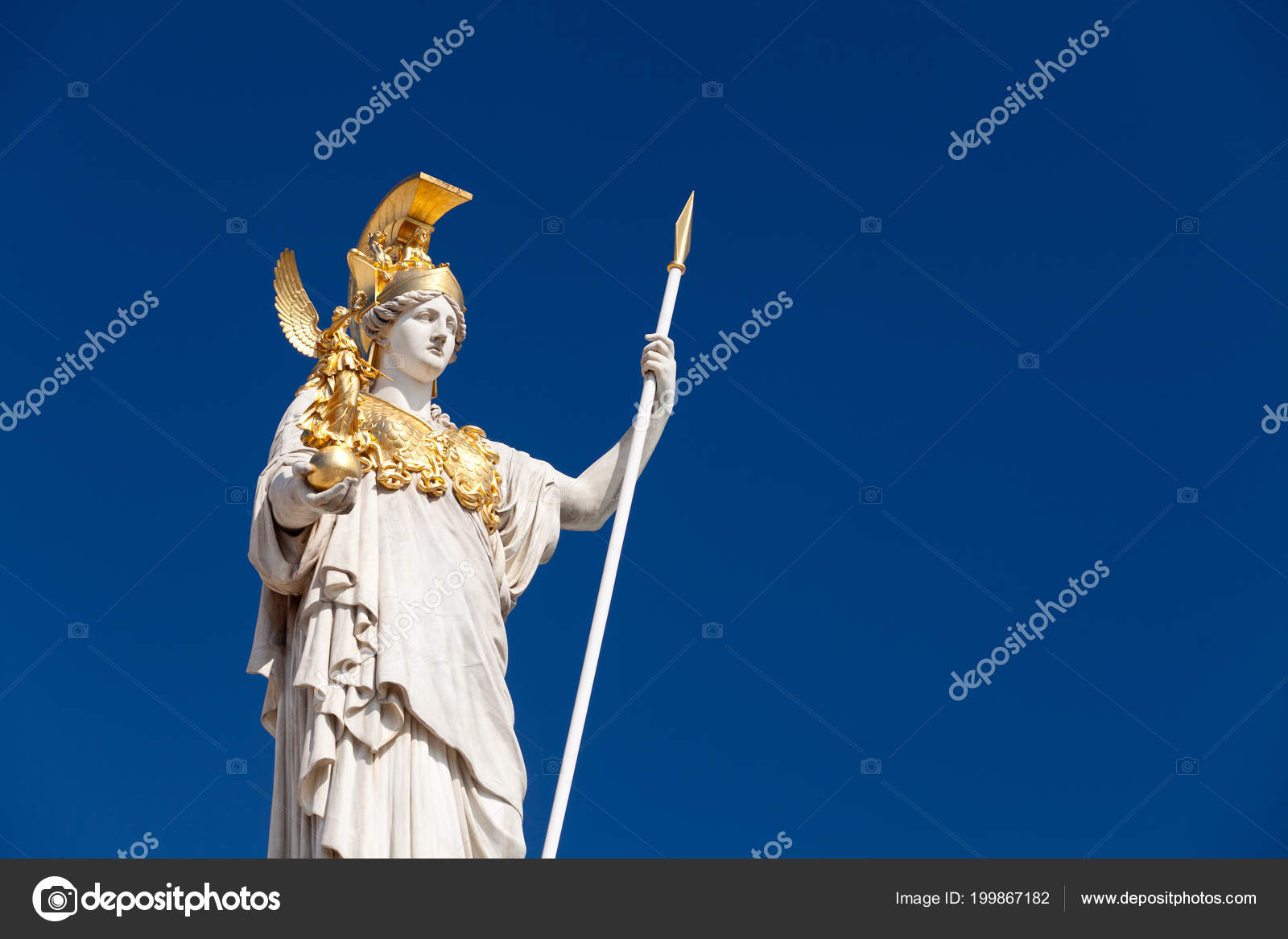 Athena Goddess Greek Mythology Symbol Law Justice Stock Photo