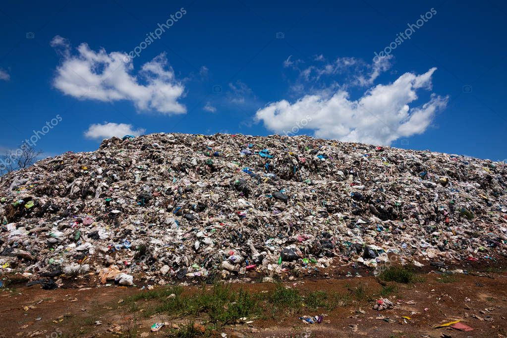Landscape With Garbage Dump Hill