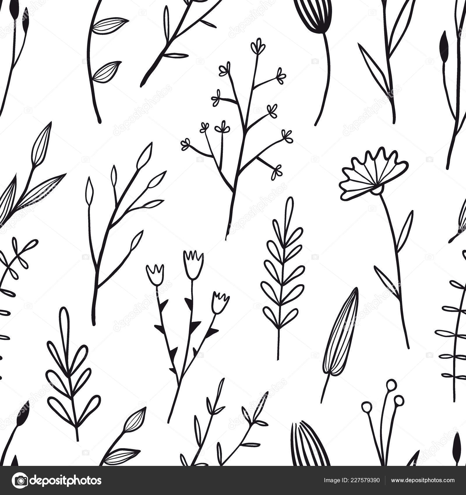 Flower simple seamless pattern \u2014 Stock Vector