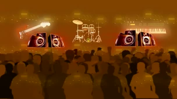 Band Audience Motion Background