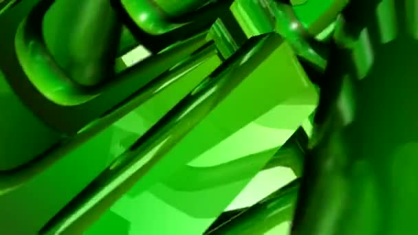 Green 3D Shapes Spinning