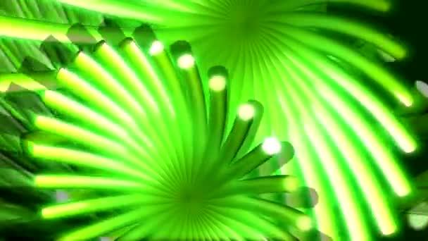 Abstraktní květina zelená, jako pohyb na pozadí