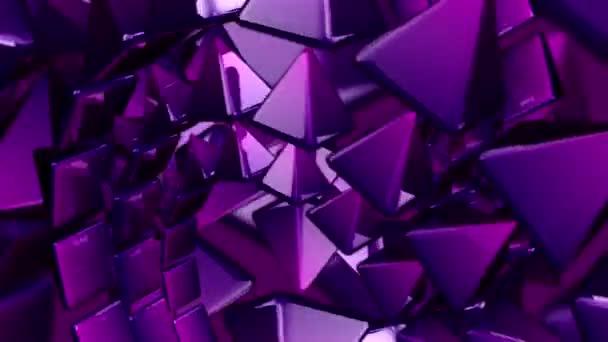 Purple pyramids spinning around