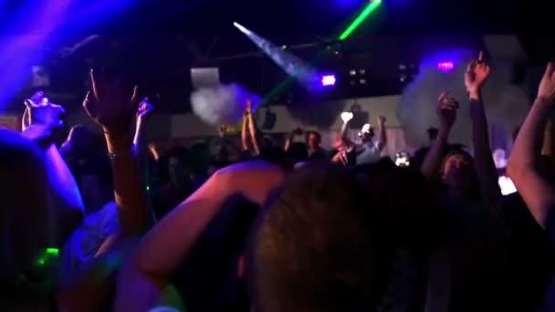 Smoke going off in a nightclub as the drop hits